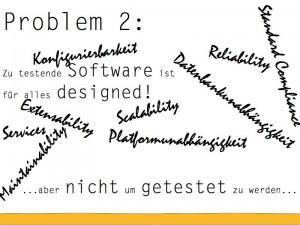 Software wird nicht testbar designed