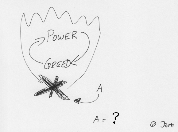 What is the fuel for greed and power?